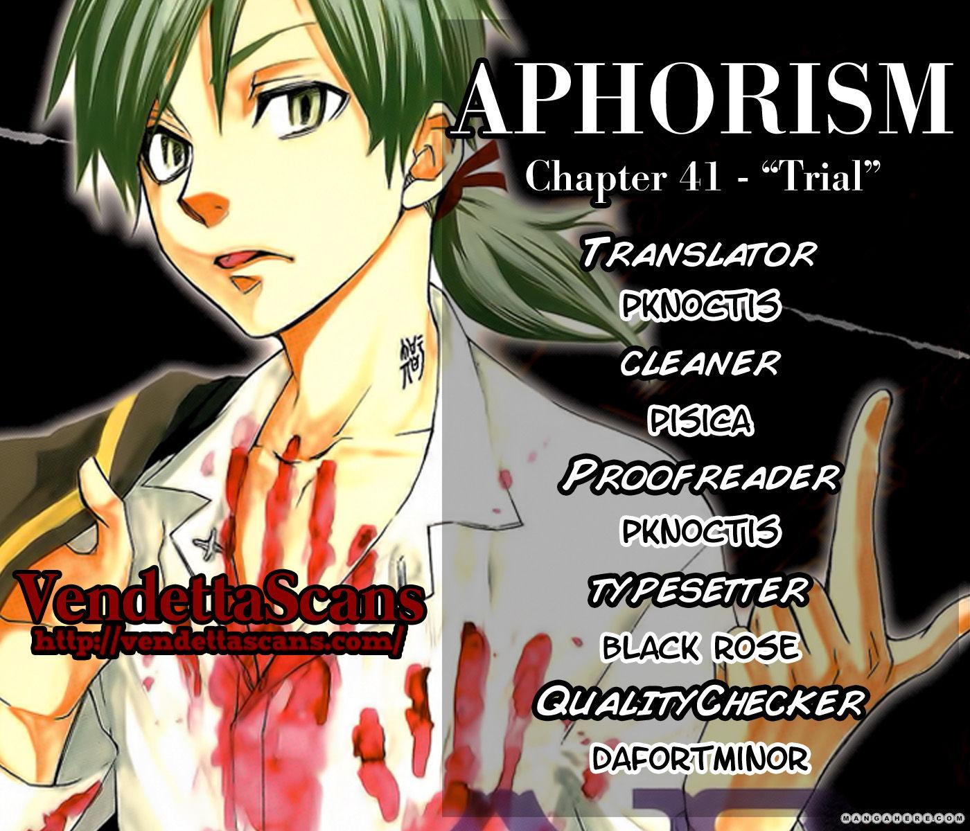 Aphorism 41 Page 1