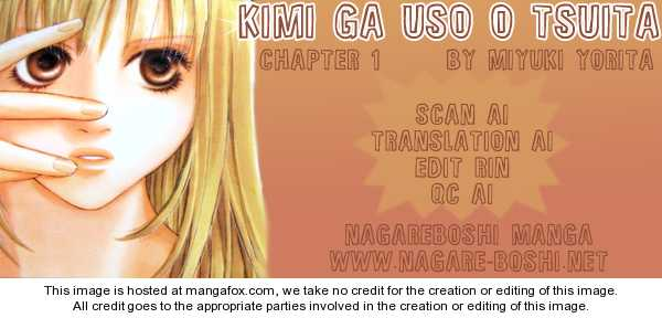Kimi ga Uso o Tsuita 1 Page 2