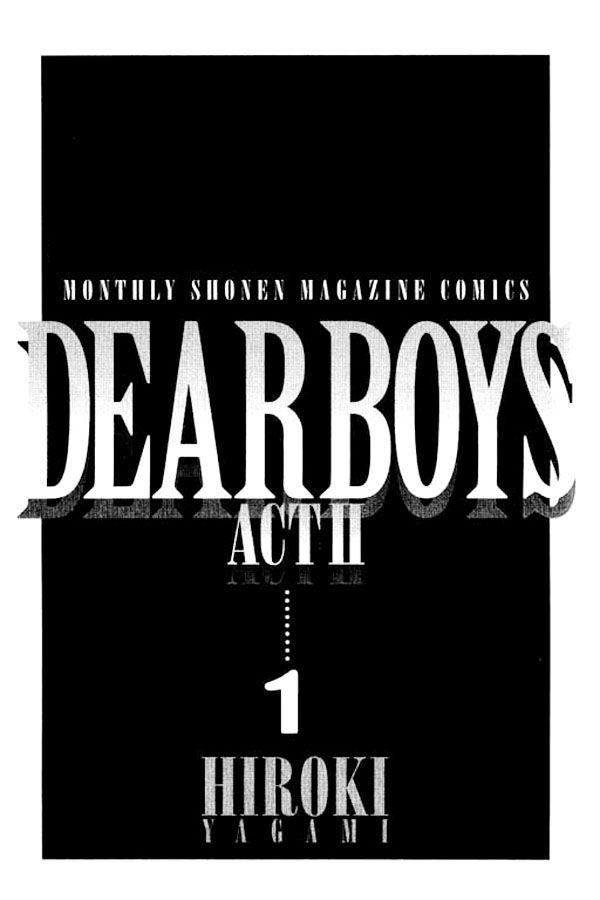 Dear Boys Act II 1 Page 1