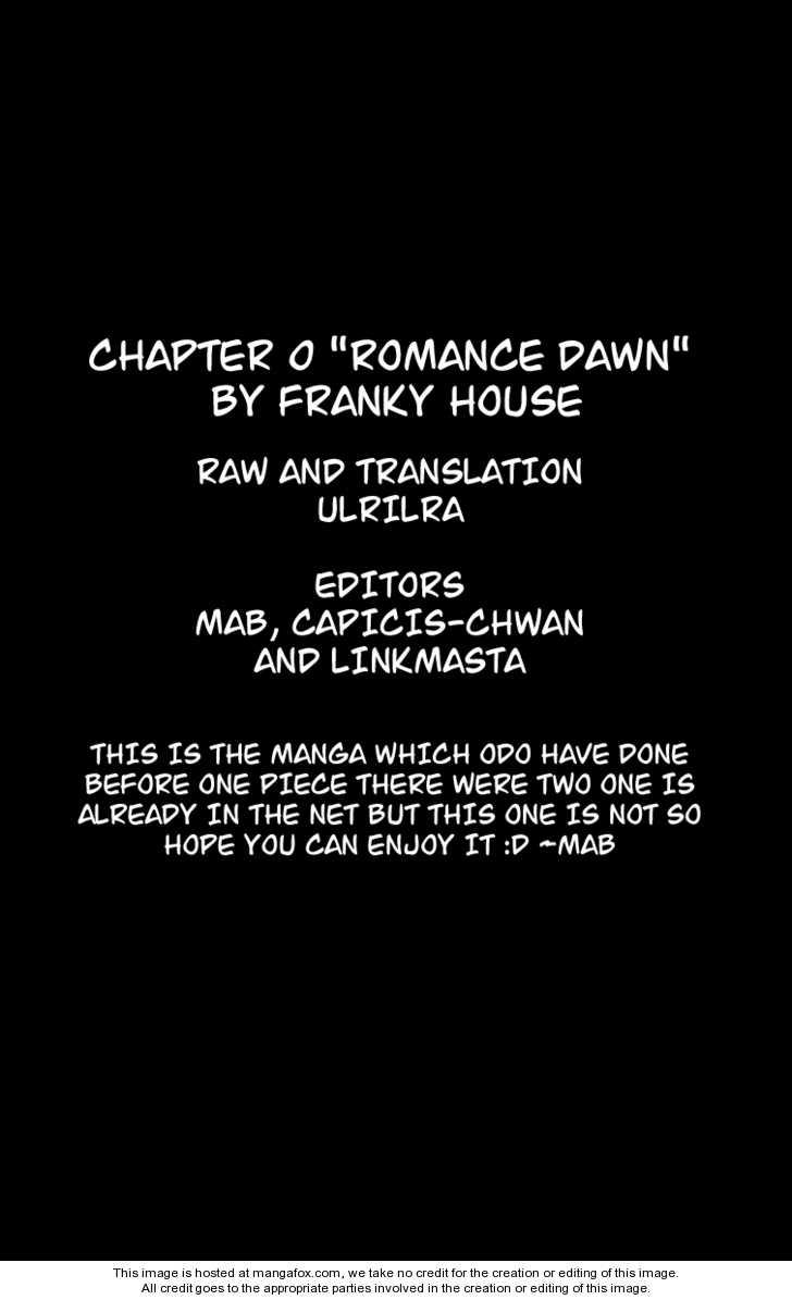 Romance Dawn 1 Page 1