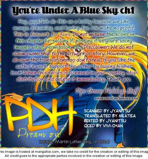 You're Under a Blue Sky 1 Page 1