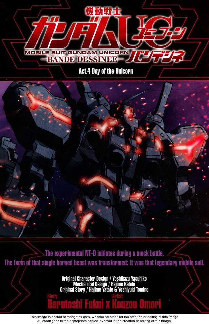 Gundam UC: Bande Dessinee 4 Page 1