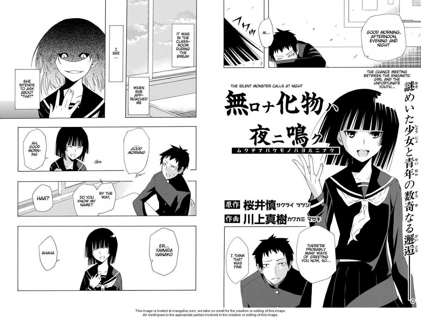 Mukuchi na Bakemono wa Yoru ni Naku 1 Page 2