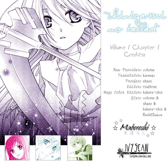 Shinigami no Ballad 1 Page 1