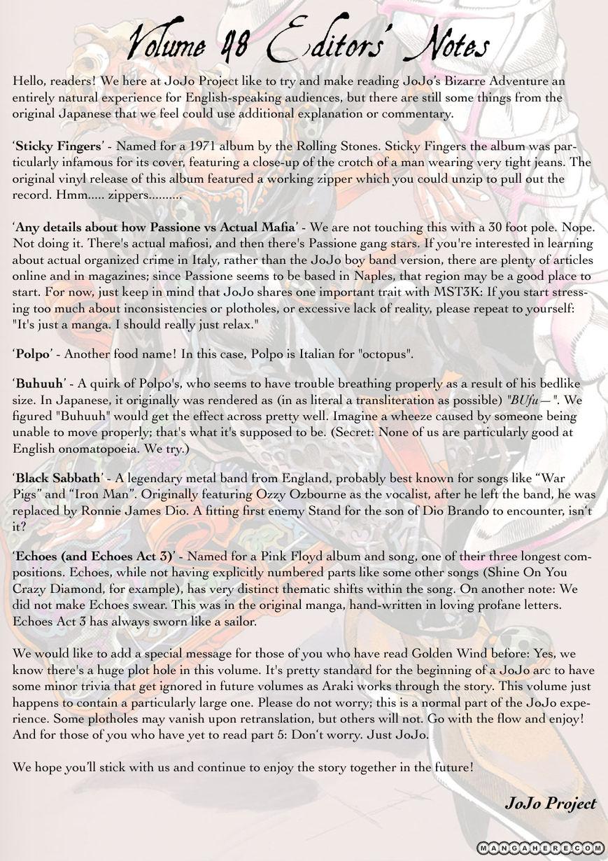 JoJo's Bizarre Adventure Part 5: Vento Aureo 48.1 Page 2
