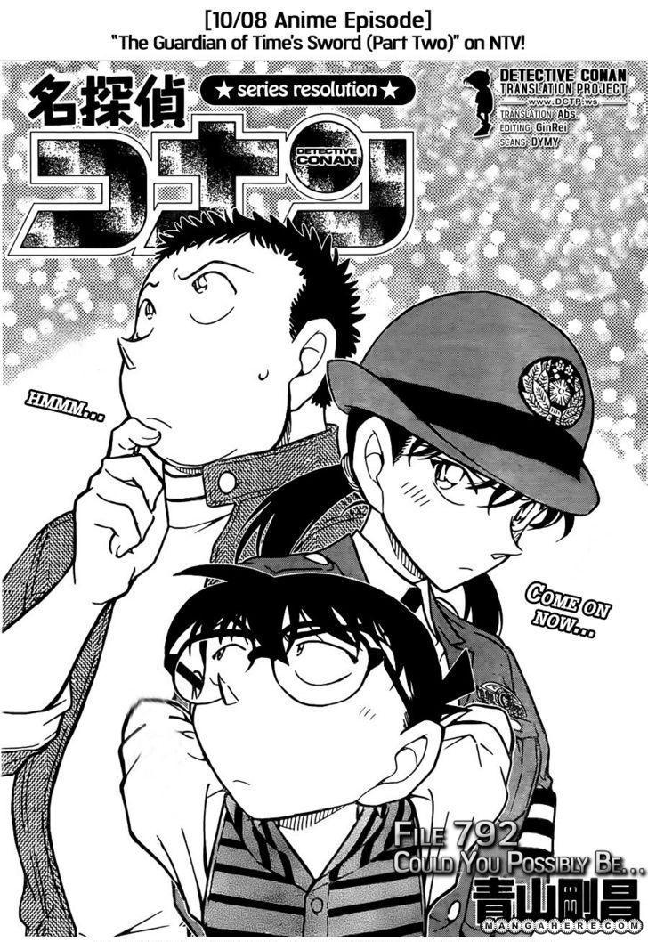 Detective Conan 792 Page 1