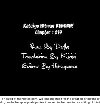 Katekyo Hitman Reborn 219 Page 1
