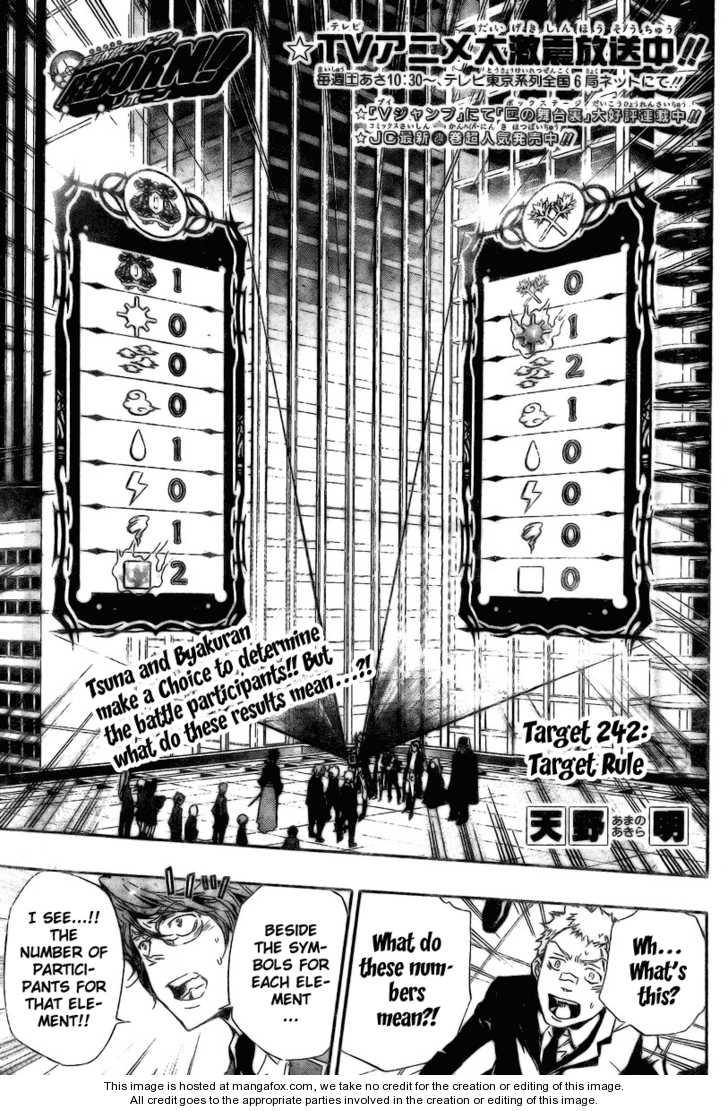 Katekyo Hitman Reborn 242 Page 1