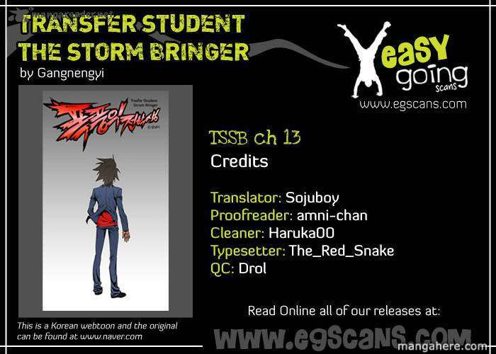 Transfer Student Storm Bringer 13 Page 1