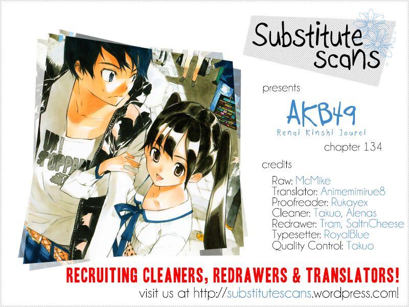 AKB49 Renai Kinshi Jourei 134 Page 1