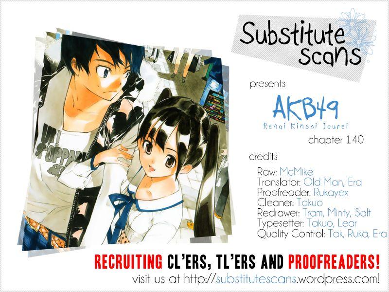 AKB49 Renai Kinshi Jourei 140 Page 1