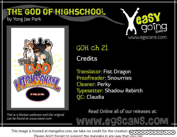 The God Of High School 21 Page 1