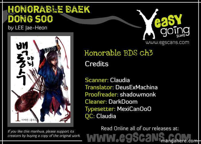 Honorable Baek Dong Soo 3 Page 1
