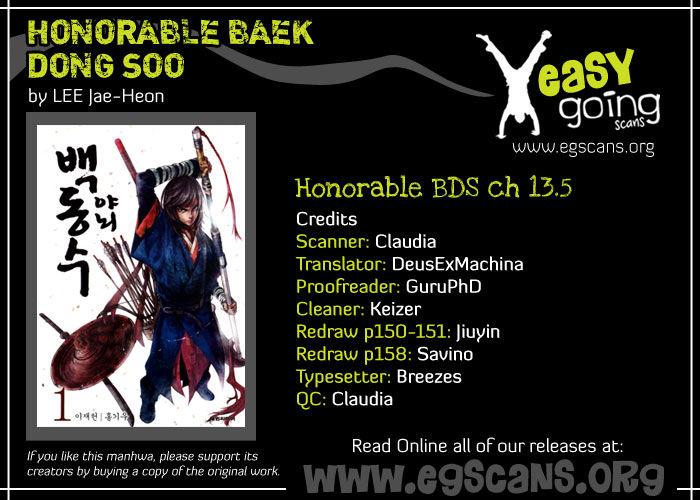 Honorable Baek Dong Soo 13.5 Page 1