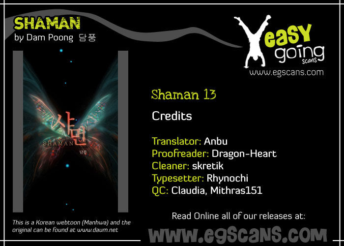 Shaman 13 Page 1