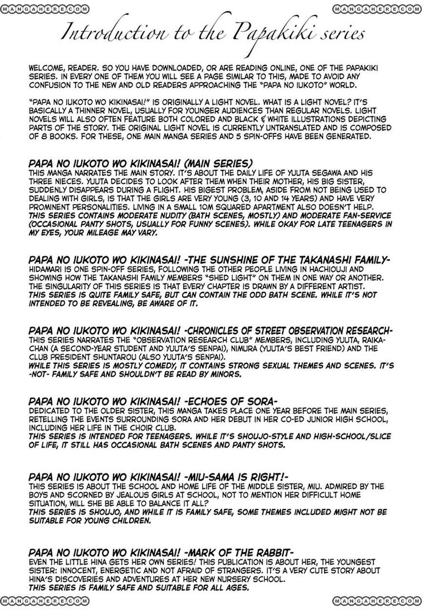 Papa no Iukoto o Kikinasai! 8 Page 1